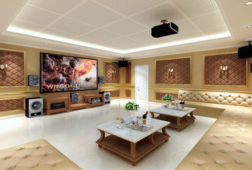 TOPAV chuyên thiết kế lắp đặt phòng chiếu phim và phòng karaoke.