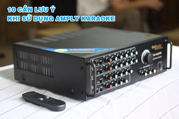 10 Điều Cần Biết Khi Sử Dụng Ampli Karaoke