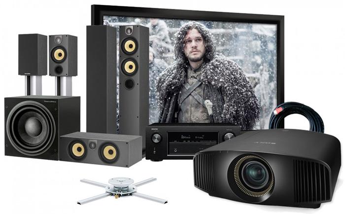 Máy chiếu, màn chiếu phim và phụ kiện kèm theo