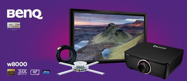 Máy chiếu BenQ W8000 thiết kế rất tinh tế và ấn tượng