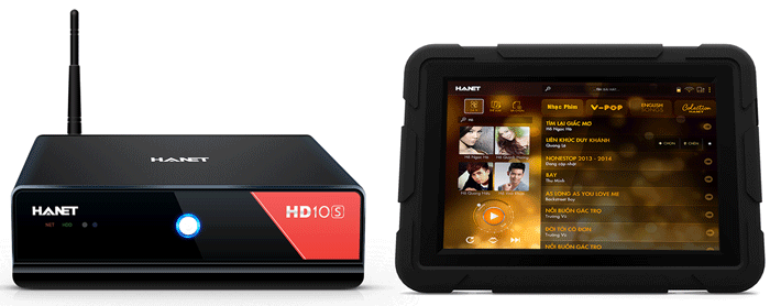 Đầu Karaoke Hanet HD10S + iPad + Ổ Cứng 4TB