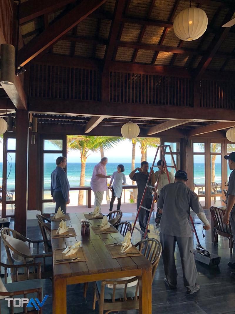 Dự Án Lắp Đặt Máy Chiếu Và Màn Chiếu Taị Resort The ANam Cam Ranh Nha Trang