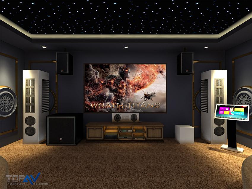 Thiết kế một phòng chiếu phim 4K cho gia đình